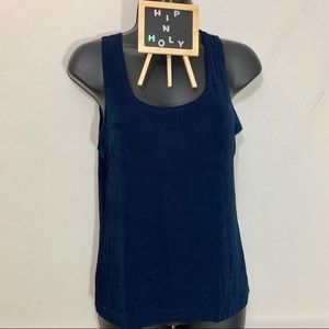 CHICO'S  PRIVATE EDITION TANK TOP NAVY BLUE SIZE 1